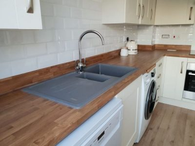Kitchen wall tiling, tiled splashback