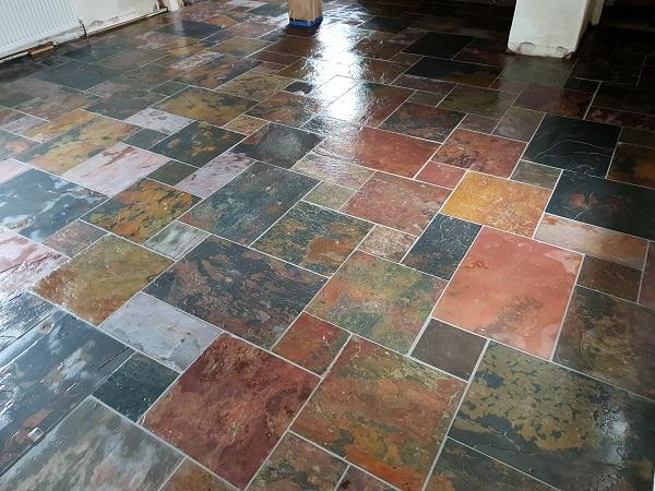slate floor tiling
